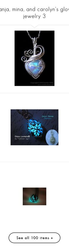 """tanja, mina, and carolyn's glow jewelry 3"" by tanjaroseblood ❤ liked on Polyvore featuring jewelry, necklaces, wrap necklace, white necklace, moonstone jewellery, moonstone necklace, white jewelry, rose jewelry, rose necklace and glow in the dark jewelry"