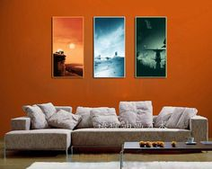 HD Canvas Print home decor wall art painting,(Unframed) Star Wars trilogy 3PC