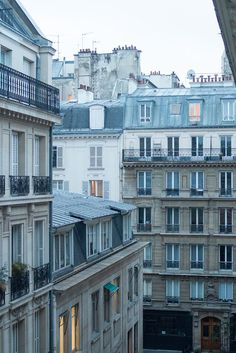 Blue Aesthetic Discover Paris Photography The Blue Hour Right Bank Paris Parisian Rooftops soft blue and grey Paris France French Wall Decor Opera House
