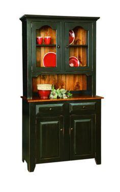 CHINA CABINET HUTCH Amish Handmade Custom Finished Country Farmhouse Furniture