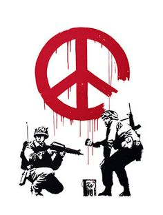 Peace Police BANKSY Unofficial Custom T Shirt by HotMonkeyGraphics