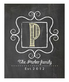 Love this Chalkboard Adorable Personalized Print by j is for jordy
