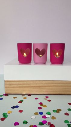 Watch This Simple Trick to DIY Your Own Heart Votives from @linesacross