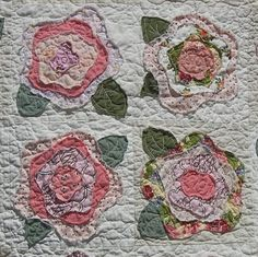 Baumcat: French Rose Baby Quilt by Cat, August 2, 2014