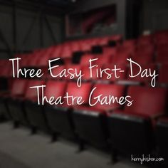 Three Easy First-Day Theatre Games -- the last one would totally work for an elementary dance class because kiddos would need to identify body parts and connect them in cool ways. Can work for older graders too! Theatre Games, Drama Theatre, Teaching Theatre, Musical Theatre, Children's Theatre, Teaching Music, Theatre Props, Learning Guitar, Theatre Quotes