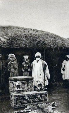 Africa | Sultan of Bamum (Njoya, r. ca. 1885–1933).  Foumban, Cameroon.  ca. 1910 | ©Holly W. Ross Postcard Collection
