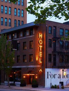 Exterior Brick Renovated Facade, The Dean Hotel in Providence, Rhode Island | Remodelista