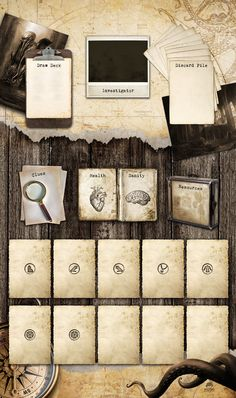 14x24 Vintage Theme - Player Mat for Card Games Like Arkham Horror - Digital Download Only