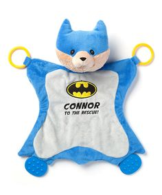 Personalized gund my first purse playset tvs toy box adorable this uniquely designed blanket for baby features 2 plastic activity rings and 2 plastic teethers themed after the famous dc superhero this activity negle Images