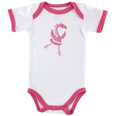 3er Pack Baby Body Pink Flamingo