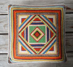 Graphic Needlepoint Pillow