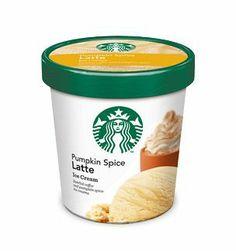 Pumpkin Spice Latte Ice Cream... WANT