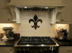 Fleur de lis in the kitchen!