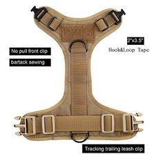 Price: (as of - Details) ICEFANG work close with Dog trainer/ handler/Offices/Dog lovers/Pet vet clinic and pet stores . Office Dog, Pet Vet, Chest Rig, Hook And Loop Tape, Dog Vest, Hiking Gear, Service Dogs, Gift Store, Dog Harness