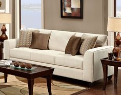 Armen Living US14203BO - Andy Sofa Butler Oyster Fabric - Onyx | Sale Price: $1,170.00