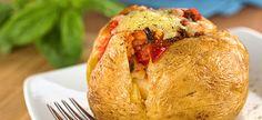 Receita de Batata com Carne Seca e Cream Cheese Chefs, Slimfast Recipes, 100 Calorie Snacks, Slim Fast, 100 Calories, Us Foods, Relleno, Baked Potato, Yummy Food