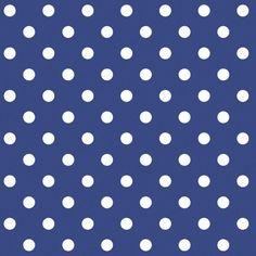 Serviette 33 x 33 cm 3 Lagig 1/4 Falzung Polka-dot blau