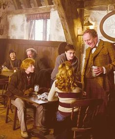 The Golden Trio with Slughorn