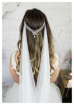 The Ayah Bridal Headpiece Head Chain can be found in Hair Floaters Etsy Shop.