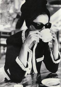"80s-90s-supermodelos: ""Allure Ohne Alluren"", Vogue Alemania, 1989Photographer diciembre: Patrick Demarchelier"