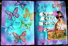 Kat's Stampin and Scrap Pad: Mixed Media and a l'il Watercolour