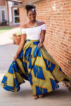 Amaizing combination of African and modern outfit.