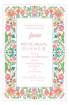 South of the Border Formal Rehearsal Dinner Invitation