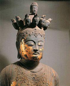 瑞穂市美江寺 乾漆十一面観音立像 奈良時代後期