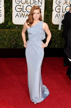 Nominee Amy Adams Hits the Golden Globes 2015 Red Carpet with Darren Le Gallo!: Photo Amy Adams is an absolute beauty on the red carpet at the 2015 Golden Globe Awards held at the Beverly Hilton Hotel on Sunday (January in Beverly Hills, Calif. Celebrity Red Carpet, Celebrity Look, Celebrity Dresses, Celebrity Gossip, Celebrity Photos, Celebrity News, Amy Adams, Beautiful Dresses, Nice Dresses