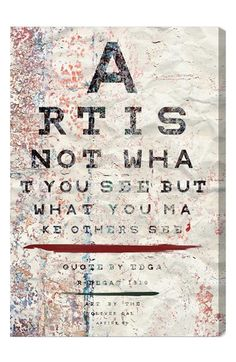 Oliver Gal 'Art Is Not What You See But What You Make Others See' Wall Art available at #Nordstrom