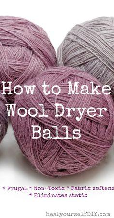 How to Make Wool Dryer Balls | www.healyourselfDIY.com
