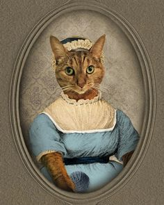 Jane Austen Gifts Cat Print Pet Portrait by TheLonelyPixel on Etsy