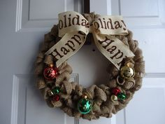 Christmas Wreath  Holiday Wreath  Christmas by adorableaDOORnments