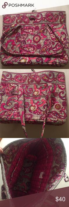 Vera Bradley Large Tote Rarely used, perfect clean condition with no flaws. This tote is a size large and is in the print paisley meets plaid. I also have a laptop case, pencil bag, and duffle in this print. (: Vera Bradley Bags Totes