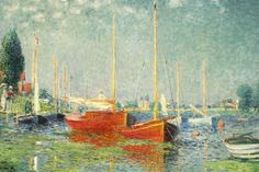 Red Boats, Argenteuil. Claude Monet