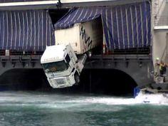 Truck Parking On Ferry FAIL