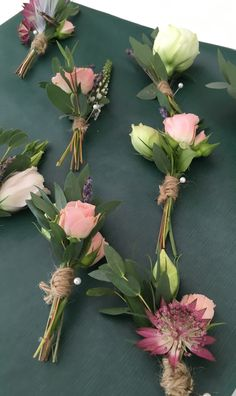 Buttonhole finished with twine September Wedding Flowers, Seasonal Flowers, Twine, Floral Wreath, Wreaths, Seasons, Decor, Floral Crown, Decoration