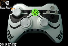 Jinx Custom Controllers Xbox 360 Designs - JiNX Custom Controllers Star Wars Storm Trooper