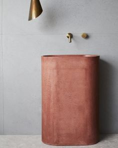 A beautifully crafted statement piece, this freestanding concrete basin's clean, curved lines make it a striking work for art for a luxury bathroom or powder room. Available in our 15 signature hues. New Bathroom Ideas, Bathroom Kids, Bathroom Inspiration, Bathrooms, Library Cafe, Concrete Basin, Curved Lines, Powder Room, Cement