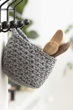 Nordic living with Novita, Crochet basket made with Novita Eco Tube yarn #novitaknits https://www.novitaknits.com/en