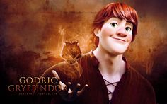 """The four founders (Frozen edition) - Godric Gryffindor[x][x] ↳ """"Where dwell the brave at heart."""""""