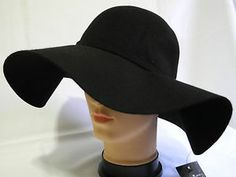 widebrim classic hats for women   ... Vintage 100% Wool Felt Women Lady Wide Brim Floppy hat with Bow Knot