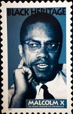 Malcolm X postage stamps