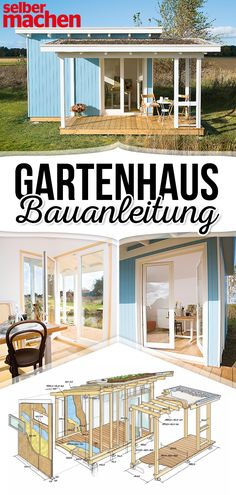 Gartenhaus selber bauen Our atelier garden shed is not an easy task for all do-it-yourselfers, because it offers unparalleled special equipment: large glass areas for plenty of light inside, fully ins Garden Shed Diy, Home And Garden, Easy Garden, Shed Sizes, Garden Maintenance, Modern Garden Design, Backyard, Patio, Garden Projects
