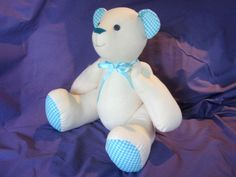 Signature Bear - Calico Teddy Bear Pattern INSTANT DOWNLOAD
