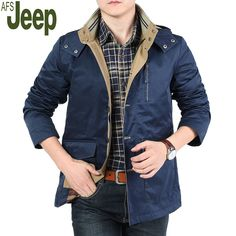 >> Click to Buy << 2017 Spring Autumn Men's Jacket AFS JEEP Brand Fashion Lapel Solid Color Casual Large Size Comfort Breathable Jacket 206.25 #Affiliate