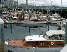 Chris Craft boats are this year's marque class, via Flickr.