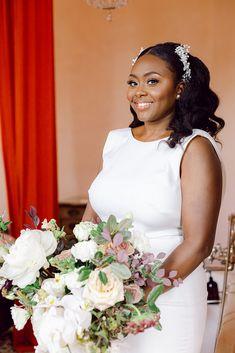 Black Bride, Martha Stewart Weddings, Harpers Bazaar, New Orleans, One Shoulder Wedding Dress, Brides, Flower Girl Dresses, Fine Art, Wedding Dresses