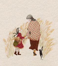 엄마의 손을 잡고 다정히 걸으면..... 가을빛 하늘도.. 나뭇잎들이 익어가는 듯, 알싸한 공기도.. 솨아아~~솨아아~~갈대들의 속삭임도.. 다~~ 내 것이 되지요.