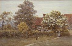 Blake's House Hampstead Heath Painting by Helen Allingham